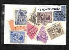 Montenegro 10 sellos diferentes