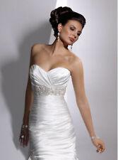 Mermaid Satin Wedding Dress - PreOwned Maggie Sottero Adorae . Size 6
