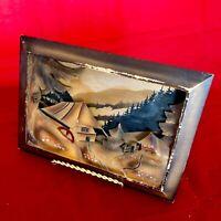 WOOD HAND CARVED PLAQUE ARTWORK VINTAGE BLACK FOREST ANTIQUE GERMAN