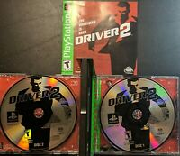 Driver 2 (Sony PlayStation, 2000) Greatest Hits! Complete 2 disks + Manual