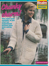 Vintage knitting pattern  cabled double knitting weight cardigan 34-40 chest