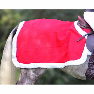 Qhp Christmas Horse Rug Exercise Sheet - Red All Sizes