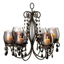 Chandelier tabletop candle holders accessories for sale ebay midnight black elegance with 6 tinted glass cups votive candle chandelier aloadofball Choice Image