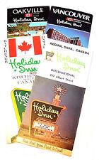 4 Vintage Holiday Inn Canada Hotel Motel Vacation Travel Brochures Room Key Ofr