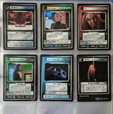 Star Trek CCG STCCG Blaze Of Glory BOG Full 6 Card SRF Super Rare Foil Set