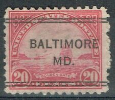 US 1922 20c GOLDEN GATE DLE precancel from BALTIMORE, MD (567-244) NORMAL