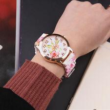 Women Girl Watch Silicone Printed Flower Causal Quartz WristWatches #4 Fashion