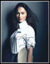 Megan Fox, Autographed, Pure Cotton Canvas Image. Limited Edition (MF-405)