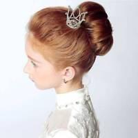 Mini Crown Tiara Hair Combs Clear Rhinestones Crystal Bridal Pageant Party b
