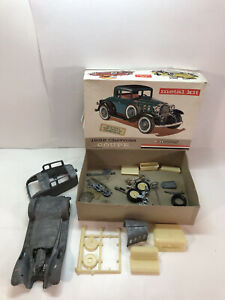 Vintage Hubley 1932 Chevrolet Coupe Metal Model Kit, PARTS ONLY!!! Missing Parts