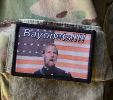 """BAYONETS"" Morale Patch Tactical Military Army Badge Hook Flag Civil War Musket"