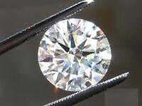 0,30 Carats F Color VS2 Clarity GIA Certified Natural Round Shape Loose Diamond