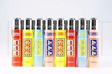 8 pcs New Refillable Clipper Mini Lighters Lucky Casino Design