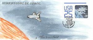 U617 25c Space Station Doris Gold hand painted cachet [371222]