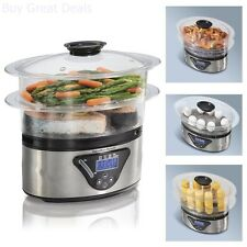 Hamilton Beach Digital Steamer Compact Electric Vegetable Cooker Rice Steam Fish