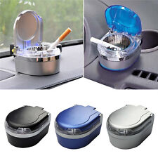 Mini Portable Car Ashtray Travel Led Light Cigarette Smokeless Cylinder Holder