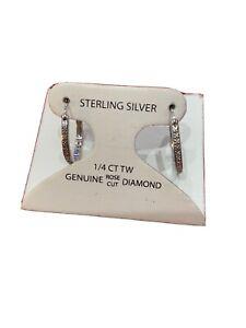.25 CT Genuine Diamond Victoria Townsend 925 Sterling Silver Hoop  Earrings