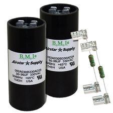 (2) PACK , 30-36 UF MFD HVAC Motor Start Capacitor 330 VAC VOLT with Resistor