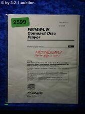 Sony Bedienungsanleitung CDX CA850 CD Player (#2599)