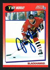 Troy Murray #53 signed autograph 1991-92 Score Hockey Canadian Release Card