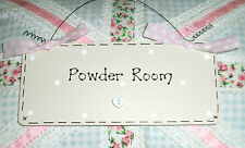 Shabby chic POWDER ROOM ~ Door Sign Plaque ~ Bathroom Toilet En Suite Loo