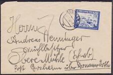 DR Mi nº 777 EF sur lettre, gel. Augsbourg-gosheim 22.07.1942