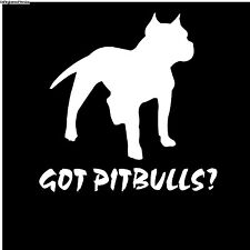 Big Dog Decal Sticker Got Pitbulls K-9 Training Bone Spike Collar Treats Bowl