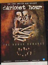 RARE Darkest Hour Album Release Poster The Human Romance 2011 ORIGINAL
