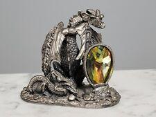 Pewter Tudor Mint Myth and Magic Majestic Dragon AG Slocumb Signed Made UK