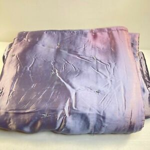 vintage silk comforter quilted purple silk satin hand tie 75x65 twin hand sewn