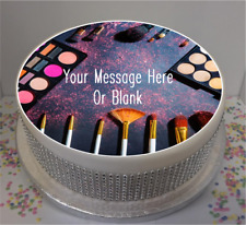 """Novelty Personalised Makeup Themed  8"""" Edible Icing Cake Topper"""