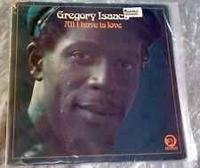 GREGORY ISAACS All I Have Is Love TROJAN UK Press VINYL LP REGGAE LOVERS ROCK