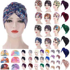 Women Muslim Stretch Turban Hat Chemo Cap Hair Loss Head Scarf Wrap Hijab Caps*