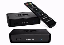 Mag 254 IPTV set top box m3u, reproductor multimedia de internet tv box USB HDMI HDTV