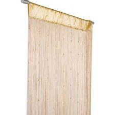 Fadenvorhang Türvorhang Insektenschutz Perlen 90x250cm beige