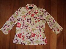laura ashley floral shirt  cotton stretch big roses 12