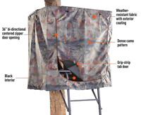 Hunting Tree Stand Blind Zipper Camo Screen Tripod Attachment Cover Game Deer