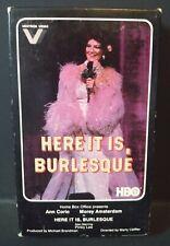 Here It Is, Burlesque (1979) (BETAMAX) Vestron #VB3004 (1982) HBO (NOT VHS)