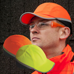 Hi Vis Viz Bump Cap Safety PPE Baseball Cap Mens Womens Reflective Work Hard Hat