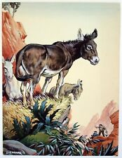 Raymond Sheppard (1913-1958) Gouache for Blackie and Son. Donkeys Revolt. c.1936