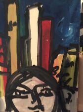 GUSTAVO BOLDRINI dipinto anni 70 autografato