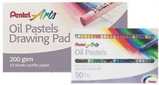 Pentel Arts Oil Pastels Premium Drawing Pad &