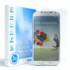 3x SCHUTZGLAS PANZER DISPLAYFOLIE ECHT GLAS 9H FÜR Samsung Galaxy S4