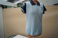 BARBOUR kurzarm Polo Shirt Bluse Poloshirt stretch Gr.38 hellblau marine TOP