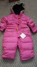 DOWN Baby Gap PINK 3 - 6 month SNOWSUIT girl infant Warmest