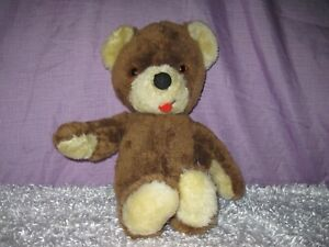 Vintage Knickerbocker Teddy Bear, Animals of Distinction: brown, red felt tongue