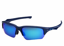 Oakley Flask Beta OO9372-03 Navy Sapphire Iridium Sunglasses Asian Fit 9372