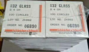 Lot of 1000 Schleicher & Schuell Whatman Glass Filters  2.4 cm
