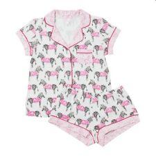 The Cat's Pajamas Knit Short Set - Zanzabar Zebra - Women Medium