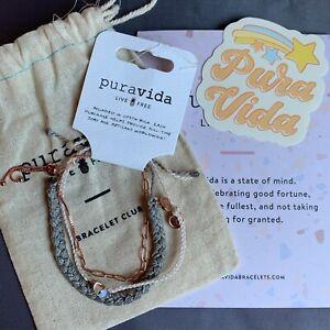 PuraVida Bracelets December 2020 Bracelet Crystal Quartz Pack